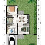 Perumahan Syariah Cimahi - Royal Orchid Villa - Denah Rumah 38-120 S